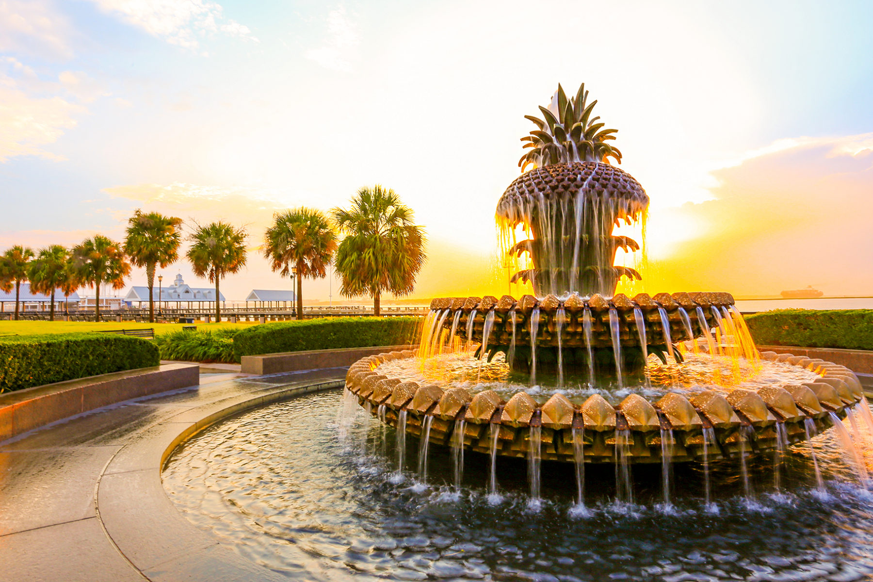 Ananas fontein in Charleston